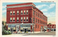 C34 Newport Arkansas Ar Postcard C1940s Hazel Hotel Building
