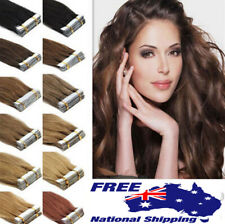"""14""""-22"""" Virgin 20pcs Tape in 100% Remy Human Hair Extensions Skin Weft AU Stock"""