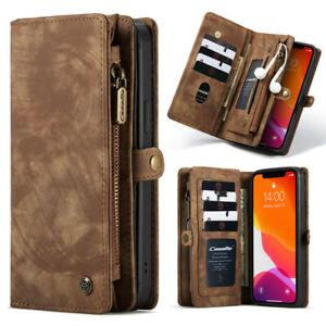 Zipper Wallet Leather Flip Case Cover For iPhone 13 12 11 Pro XR XS Max 7 8 Plus