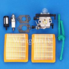 For Stihl Mm55 Mm55C Tiller Trimmer Carburetor Carb Air Fuel Filter Tune Up kit