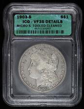 1903 S $1 Morgan Silver Dollar Micro S ICG VF 35 Details