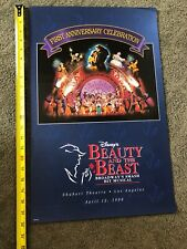 Disney Beauty And The Beast Broadway First Anniversary Shubert Theatre LOS ANGEL