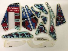 Gottlieb Big Indian / Brave Pinball Machine Plastic Set - New