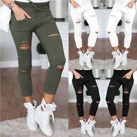 Sexy Women High Waist Slim Skinny Leggings Stretchy Pants Jeggings Pencil Pants