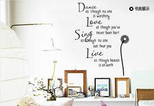 New Home Decor DIY Sentence Vinyl Wall Sticker Art Removable Living Room