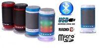 CASSA PORTATILE CON RADIO FM SD USB BLUETOOTH MP3 SMARTPHONE SPEAKER LED