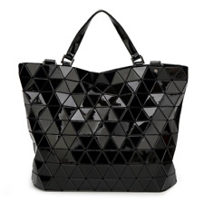 20f94965ae47 NEW STYLE High Quality BAO BAO Issey Miyake Metallic BLACK TOTE Bag NEW