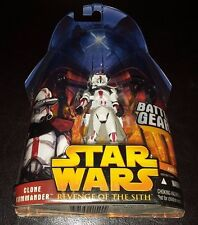 STAR WARS RED CLONE COMMANDER #33 REVENGE OF SITH ACTION FIGURE RARE NEW TROOPER