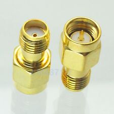 10pcs Adapter Sma male plug to Sma female jack Rf connector straight plating M/F