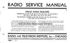Philco Radio Receivers Service Manual * CDROM * PDF