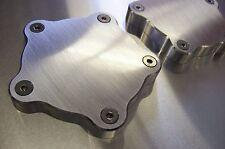 Block-off Aluminum Flat Center Spindle Dust Caps Fits Coys C-5 Wheels 2 Pack 1/2