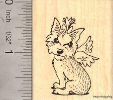 Yorkie Angel Rubber Stamp, Yorkshire Terrier  G15908 WM Love, Heart