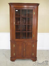 36481E: HENKEL HARRIS #1114 Cherry Corner Cabinet