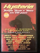 Hysteria 10 Oldskool Jungle Drum n Bass 6 CD rave pack rec@ Airlock 1996 Rare!
