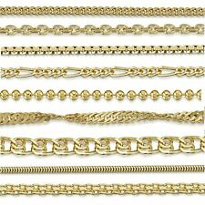 Amberta Collanina in Vero Argento Sterling 925 Placcato Oro Catenina per Donna