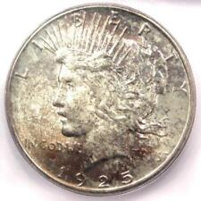 1925-S Peace Silver Dollar $1 - Certified ICG MS64 - Rare in MS64 - $650 Value!