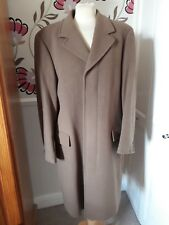 """VAN GILS WOOL AND CASHMERE CAMEL COLOURED HIP LENGTH COAT SIZE M CHEST 38 """""""