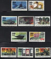 Scott #2765 A-J Used Set of 10, 1943: Turning The Tide