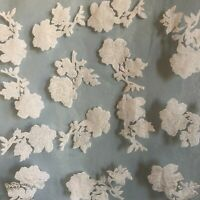 """Vintage Sheer 24"""" Burn Out Head Wrap Floral Scarf Made in Japan Rayon"""