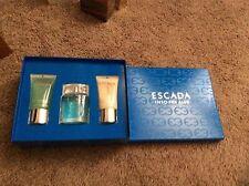 ESCADA INTO THE BLUE WOMEN PERFUME EDP 50ML 1.6OZ 3PC SET BODY LOTION BATH GEL