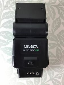Minolta Auto 360PX Hot Shoe Flash Unit Made in Japan Untested