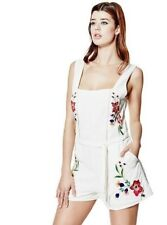 GUESS AUDRINA EMBROIDERED APRON ROMPER PLAYSUIT JUMPSUIT MACADAMIA BNWT