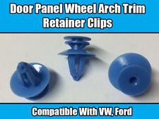 10x Clips For VW Passat Ford Fiesta Blue Door Panel Wheel Arch Trim Retainer