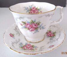 "Royal Albert Cup & Saucer ""Tranquillity"" Pattern Bone China England Vintage"