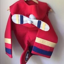 NICE USED CONDITION RARE POTTERY BARN KIDS RED AIRPLANE COSTUME 4/5/6 4-6