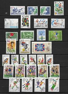 EUROPE COLLECTION THEME FOOTBALL 63 TIMBRES TBE DIVERS PAYS VOIR LES 2 PHOTOS