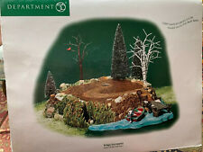 """Dept. 56- Village Accessory """"Sounds Of The North Woods"""" /Nib/"""