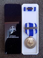 GENUINE NATO MEDAL FOR ACTIVE ENDEAVOUR IN NAMED BOX OF ISSUE - EXCELLENT