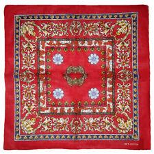 "Wholesale Lot of 12 Floral Angel Cherub Red 100% Cotton 22""x22"" Bandana"