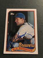 Autographed 1989 Topps Baseball Card BJ  Surhoff Milwaukee Brewers