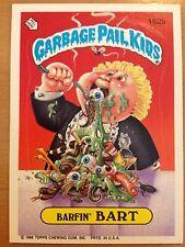 Garbage Pail Kids GPK Original Series 4 #162b Barfin' Bart Non-Mint