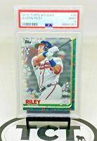 2019 Topps Holiday MLB Baseball Austin Riley RC PSA 9 Atlanta Braves