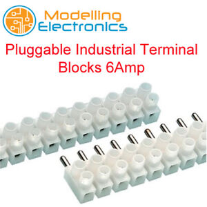 Plug in, Terminal blocks. 6amp. Clear. 12 way. *Top Quality!