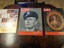Life Magazine Lot; 1992, 1942, 1947 Vintage