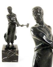 Franz Iffland 1862 Berlin / Der Schmied / Bronze auf Marmorsockel / H 28 cm