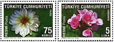 TURKEY 2009, OFFICIAL STAMPS WITH THEME OF FLOWERS - 2, MNH