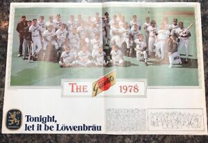 "1978 San Francisco Giants Lowenbrau 12"" X 18"" Team Photo Poster"