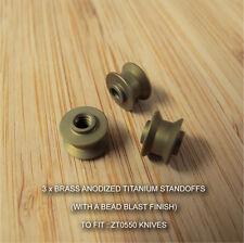 Zero Tolerance ZT0550 ZT 550 Knife Custom Titanium Standoff Anodized MATT BRASS