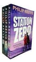 Philip Reeve Railhead Trilogy 3 Books Collection Set Pack Station Zero, Railhead