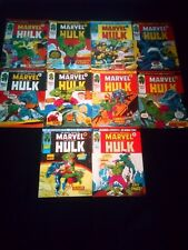 The Mighty World of Marvel Comic Joblot x 10 The Incredible Hulk (1976)
