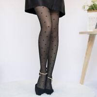 5//6 Pairs Women Thigh High Silk Stockings Black Polka Dot Pantyhose Tights Socks