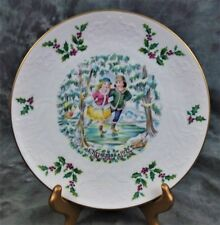 Vintage Royal Doulton 1St Series Christmas Plate With Ice Skaters From 1977
