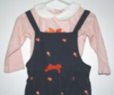 Gymboree Fish Outfit Girls size  12-18 months Shirt & Overalls Ocean Orange -A