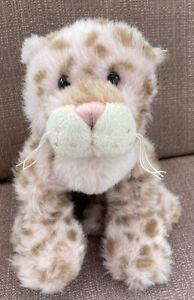 "Webkinz Strawberry Cloud Leopard Pink Brown Spots HM466 Ganz Plush 9"" No Code"