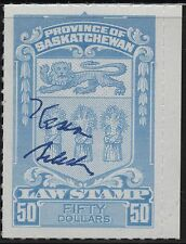 Canada VanDam # SL78 $50.00 Saskatchewan Law Stamp with Kasimir Bileski signatur