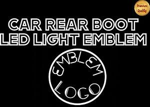 FRONT/REAR DECORATIVE LED WHITE LIGHT AUTO ADHESIVE 11CM BADGE FOR TIGUAN TOUREG